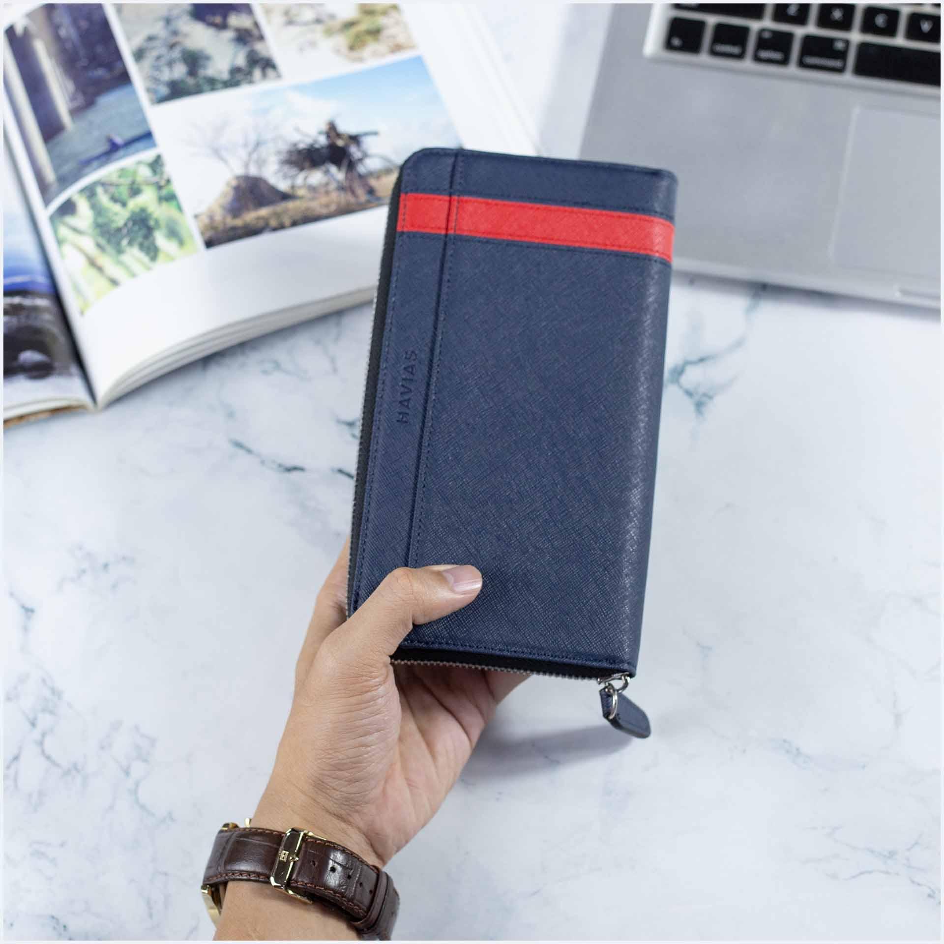 Bóp ví nam dài khóa kéo da thật - Thiết kế chuẩn cho cuộc sống hiện đại