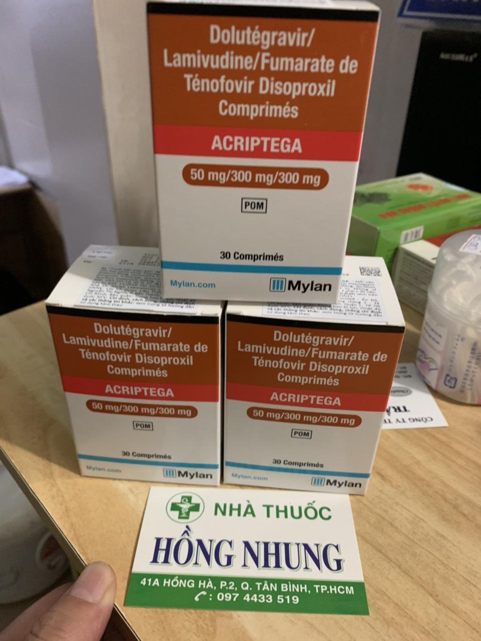 Mua thuốc ARV ACRIPTEGA 50/300/300 ĐIỀU TRỊ HIV Ở ĐÂU TỐT NHẤT TPHCM, HÀ NỘI