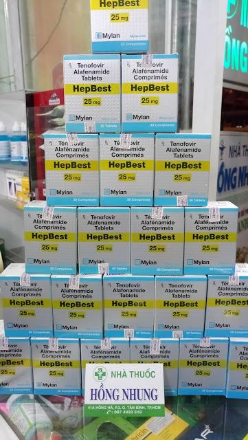 Mua thuốc HEPBEST 25MG mới nhất điều trị viêm gan B mạn tính tốt nhất ở TPHCM (Sài Gòn)