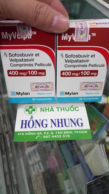 Mua thuốc MYVELPA 400mg/100mg đặc trị viêm gan C mạn tính cho tất cả 6 Genotype có tem chính hãng của Ấn Độ rẻ nhất, tốt nhất tốt nhất ở TPHCM (Sài Gòn)