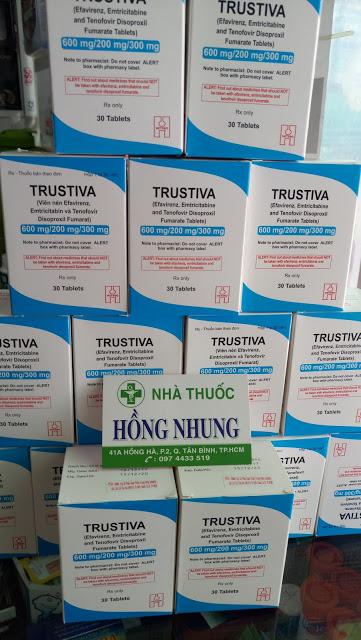 Mua thuốc ARV TRUSTIVA điều trị HIV bậc 1 tốt nhất ở TPHCM (Sài Gòn)
