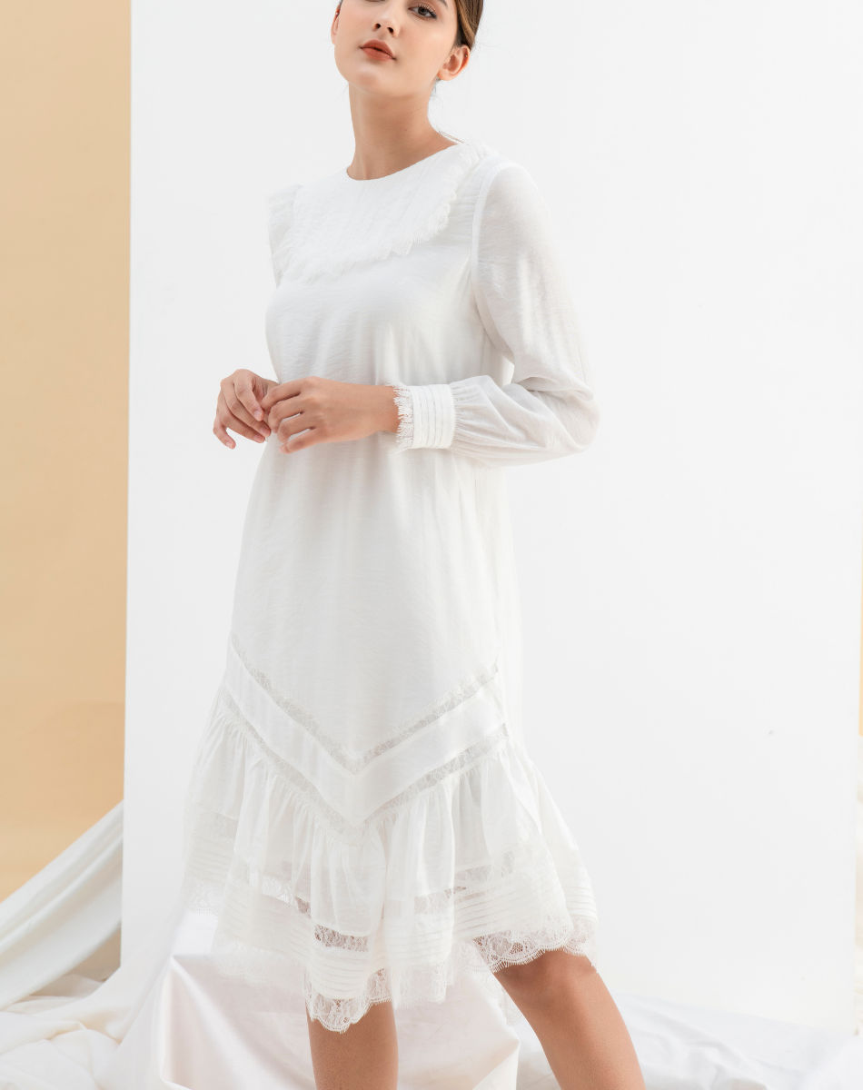 Đầm Suông Đuôi Ren - Nữ