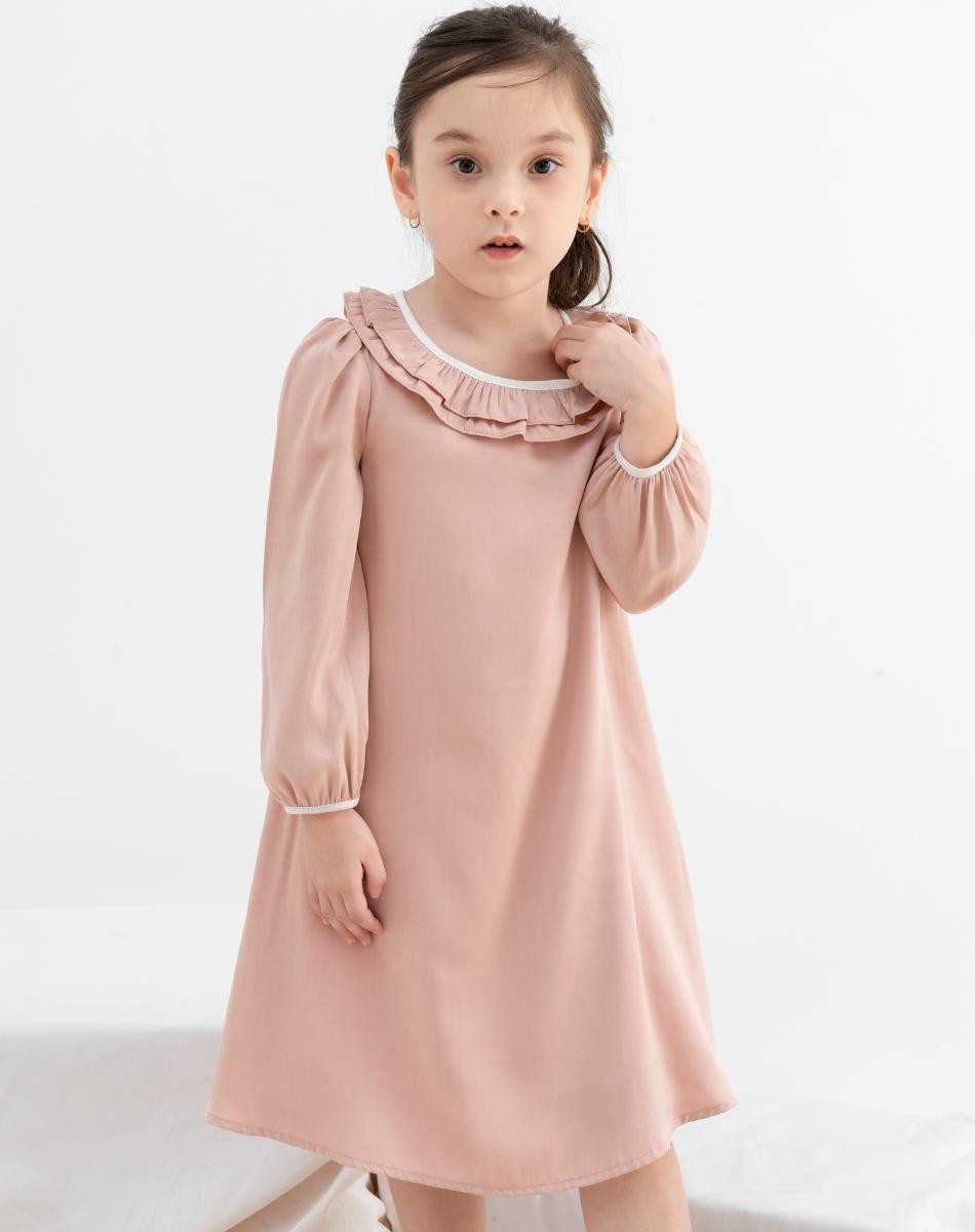 Đầm Suông Cổ Bèo Bé Gái