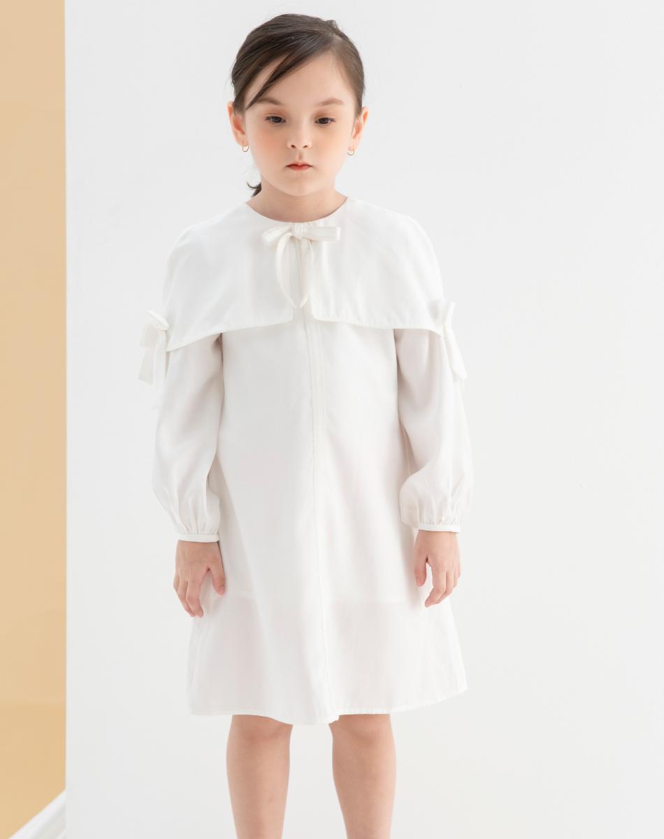 Váy Choàng Nơ Tay Bé Gái