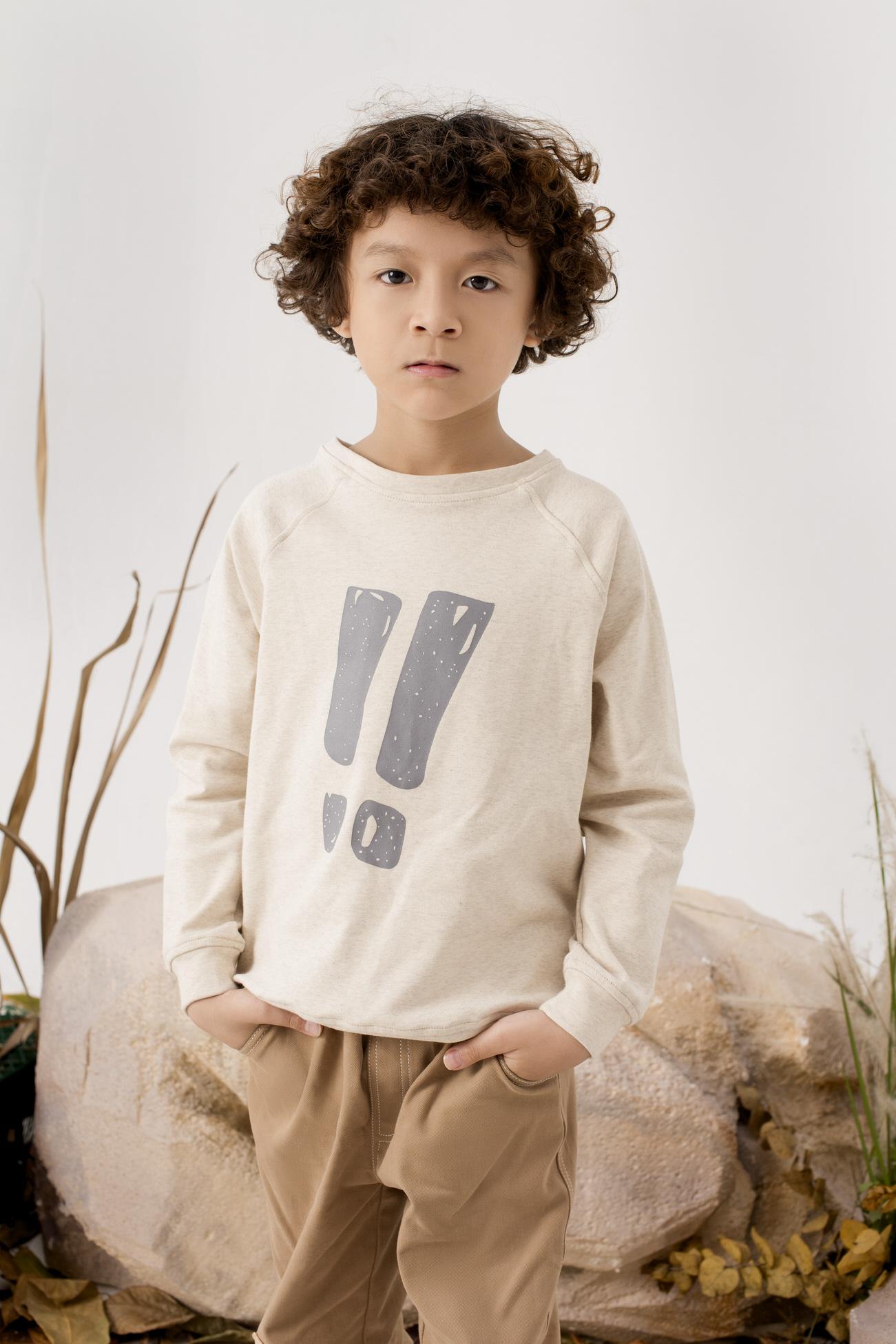 Áo Cotton In Hình Chấm Than - Bé Trai