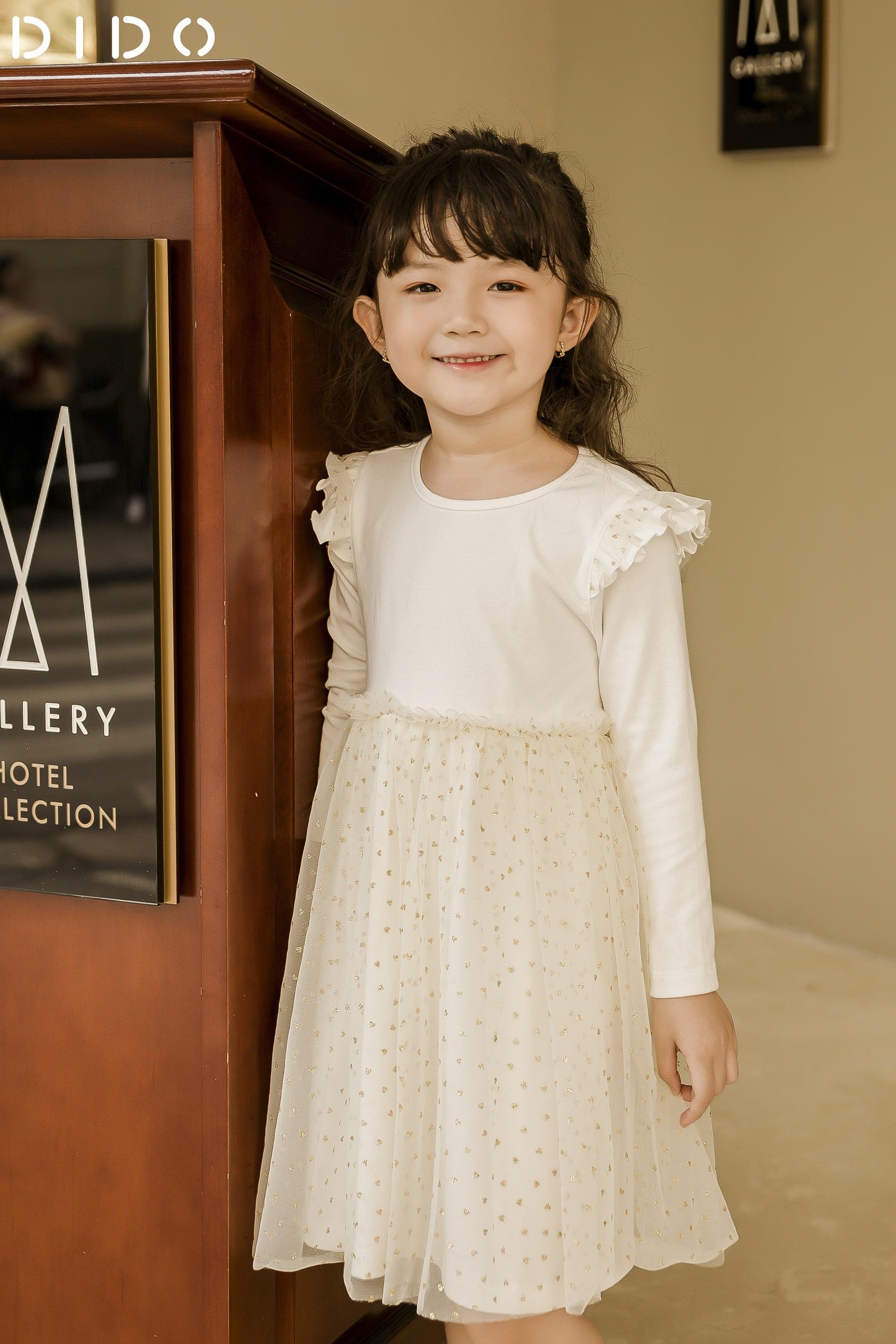 Váy Chun Eo Phối Kim Tuyến - Bé Gái