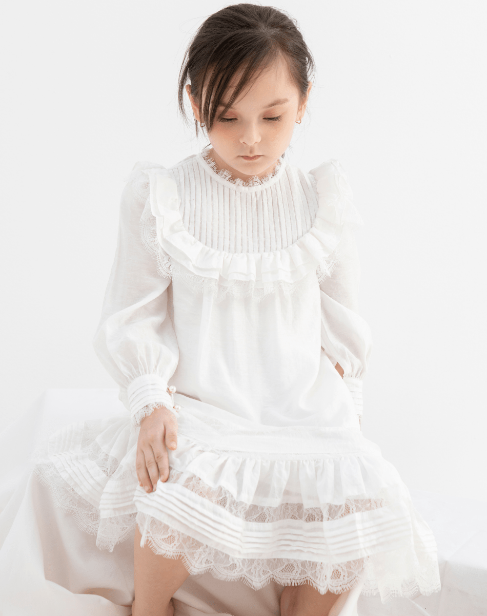 Đầm Suông Đuôi Ren - Bé Gái