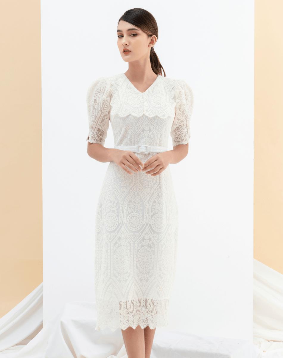 Đầm Ren Tay Bồng Nữ