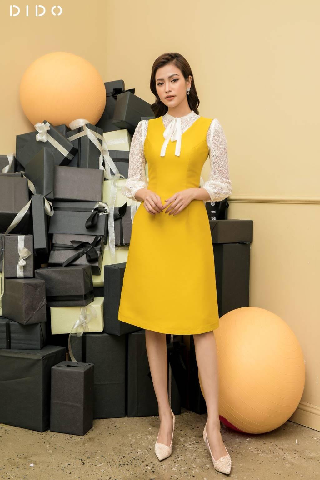 Đầm Tacta Luxury Kèm Áo Ren - Nữ