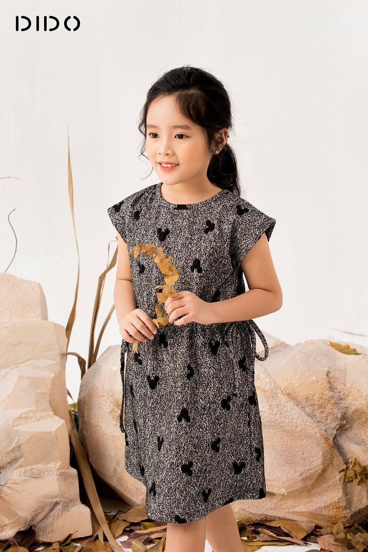 Đầm Tai Thỏ Rút Nơ Eo - Bé Gái