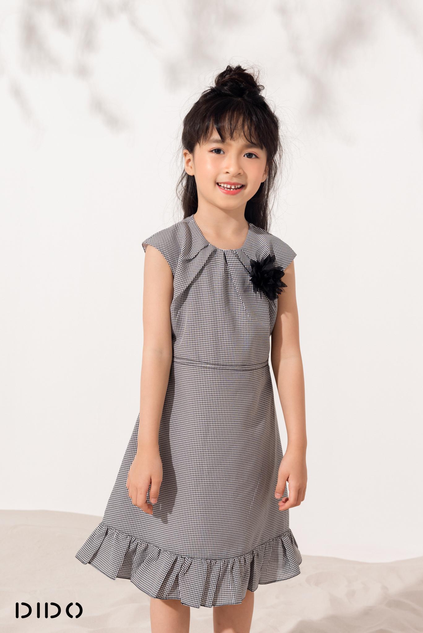 Váy Xếp Ly Cổ Bé Gái