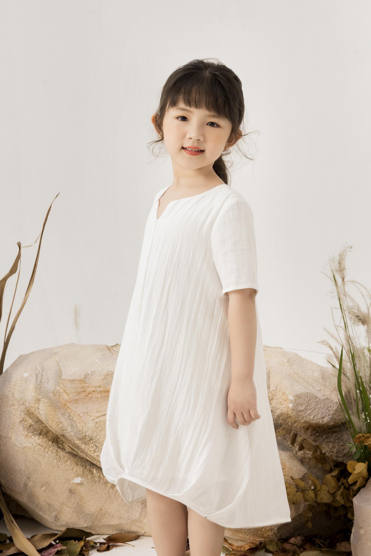 Đầm Đũi Gấu Xếp Ly - Bé Gái
