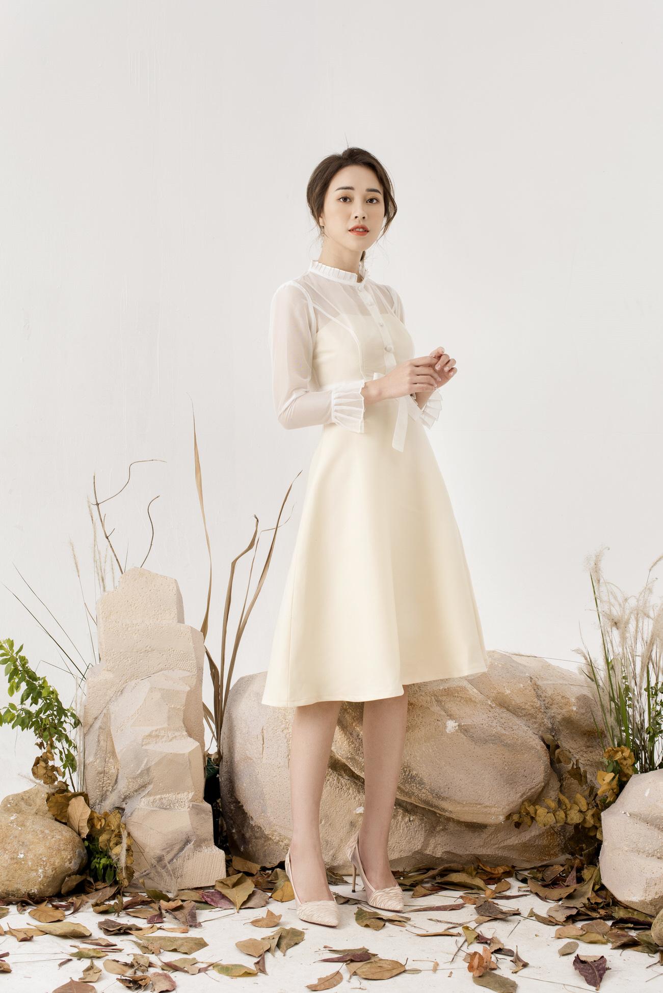 Váy Kèm Áo Lưới - Nữ