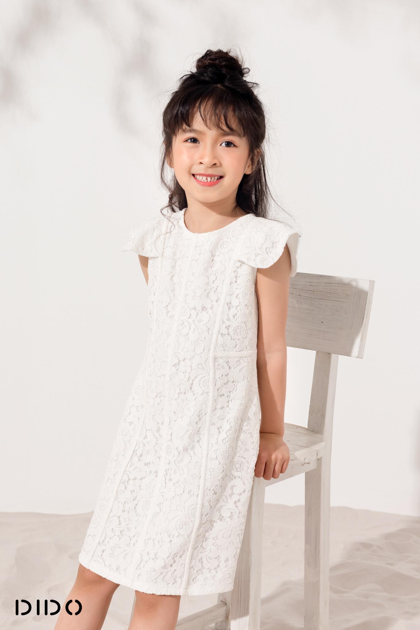 Váy Zen Gân Tay Vuông - Bé Gái