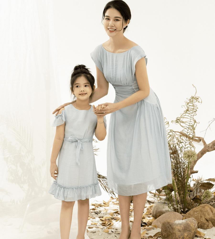 Váy Nhún Eo Cánh Tiên Bé Gái