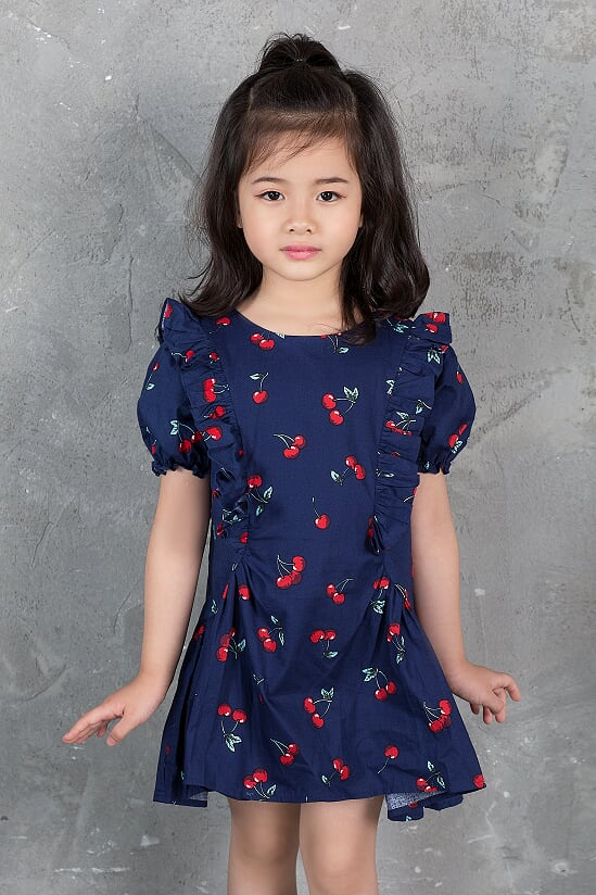 Váy Cherry Bèo Thân - Bé Gái