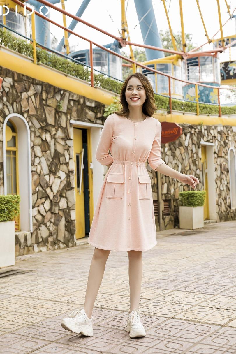 Váy Cotton 100% Túi Ốp - Nữ