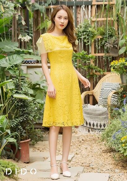 Váy Ren Vàng - Nữ