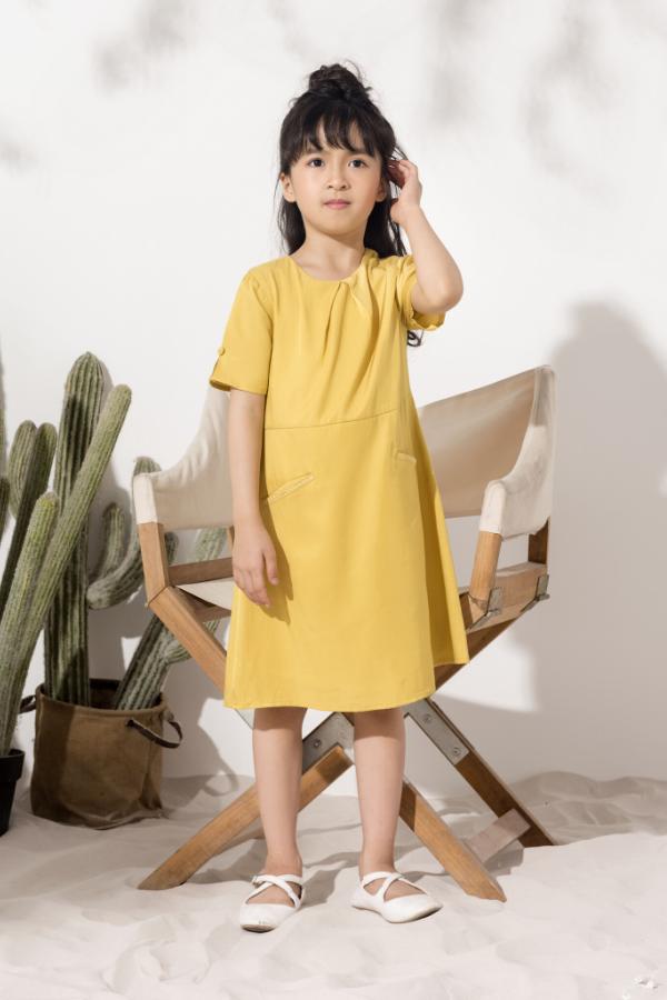 Váy Xếp Ly Tay - Bé Gái