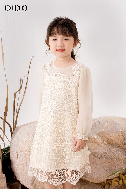 Váy Ren Phối Tơ - Bé Gái