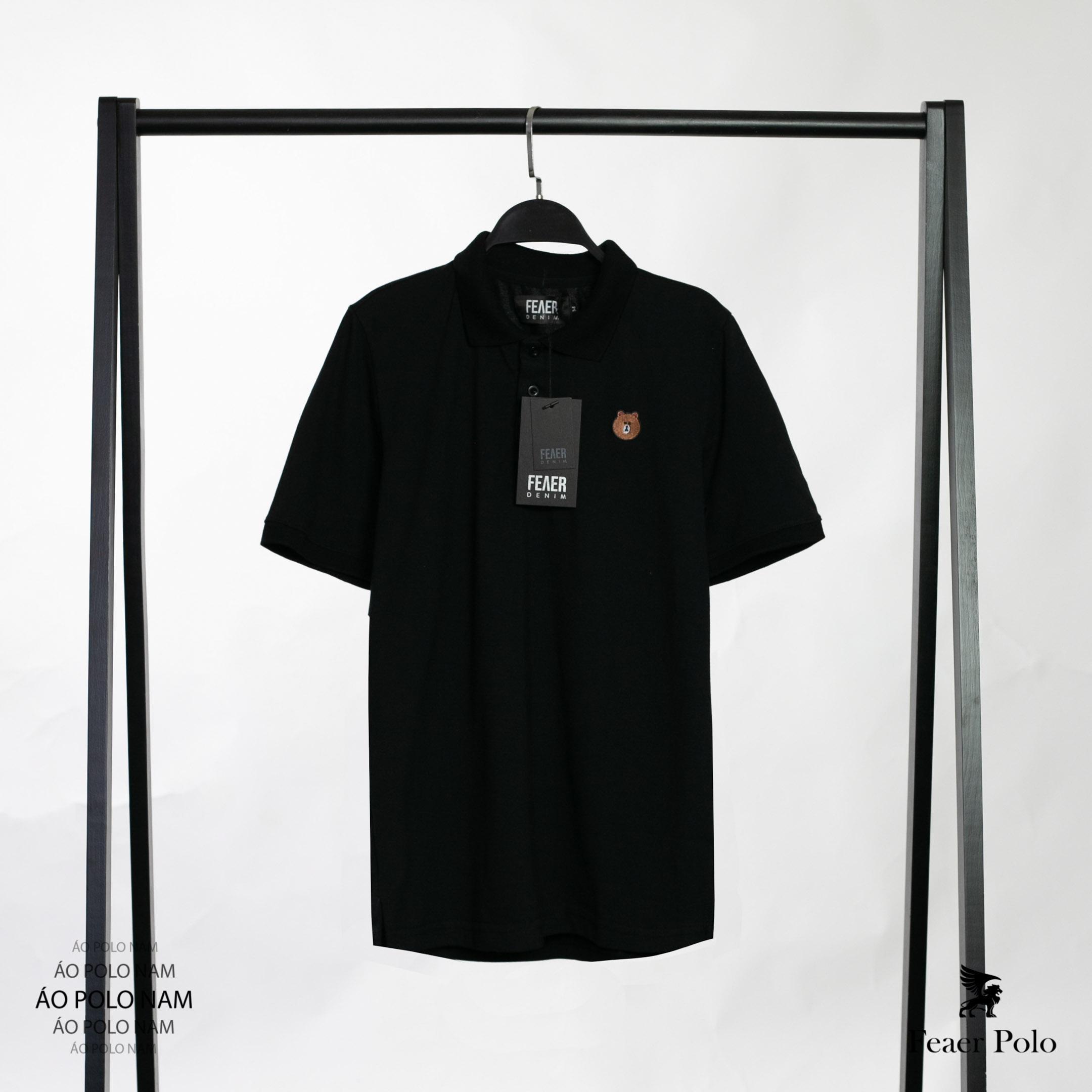 SP93 - Áo Thun Polo Thêu Bear