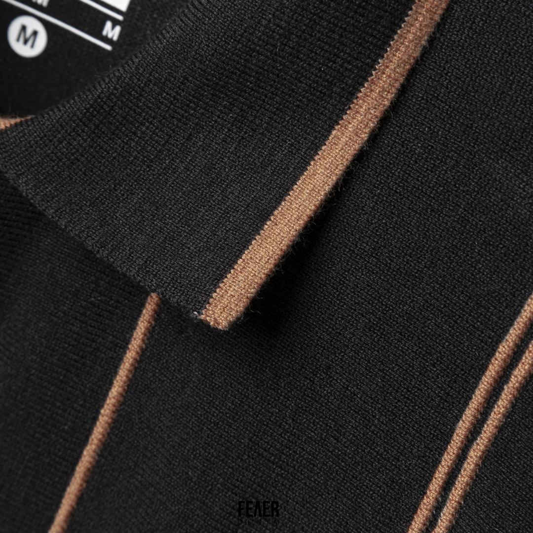 SP200 - Áo Polo Vertical Stripe Knitted