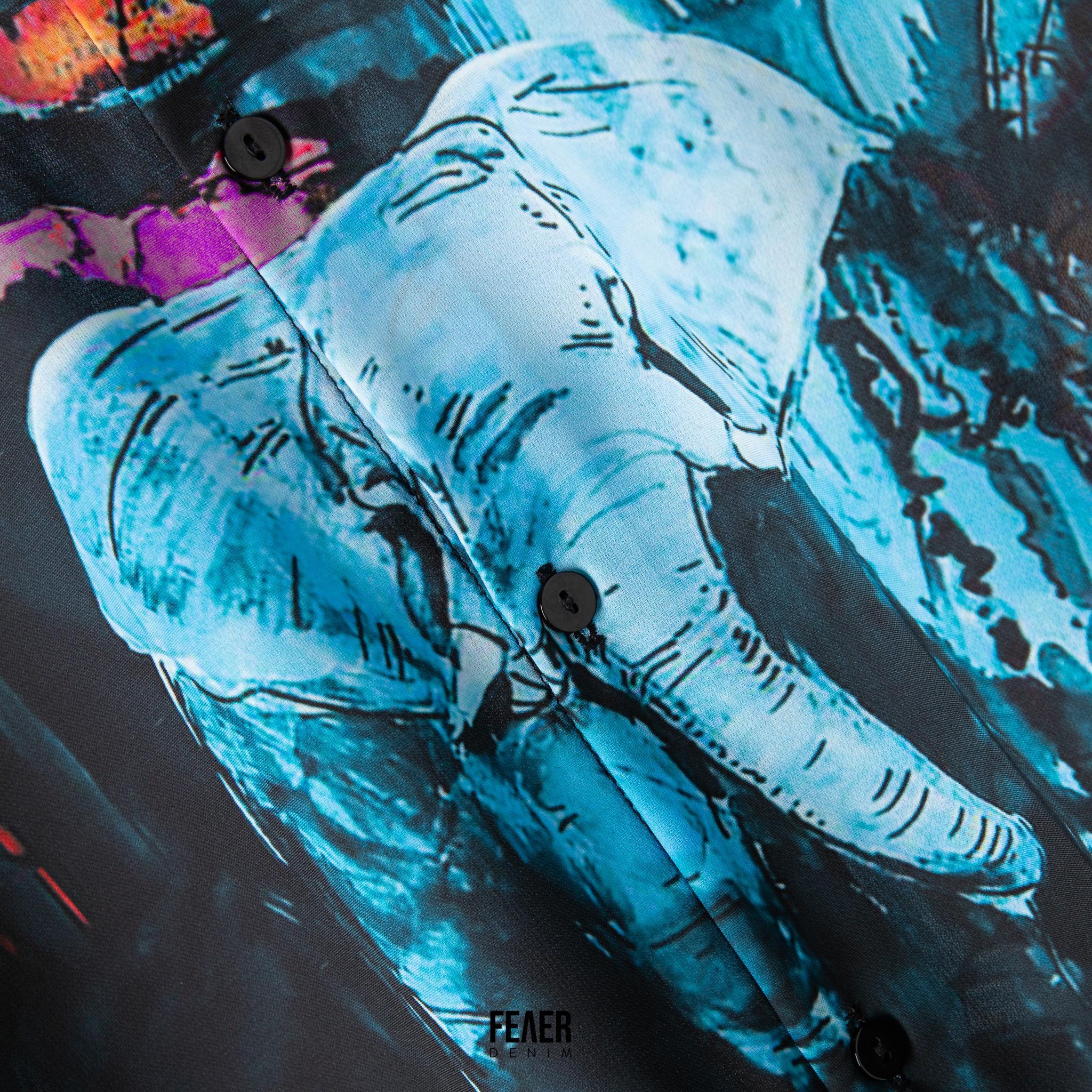 SP184 - Áo Sơ Mi Blue Mural