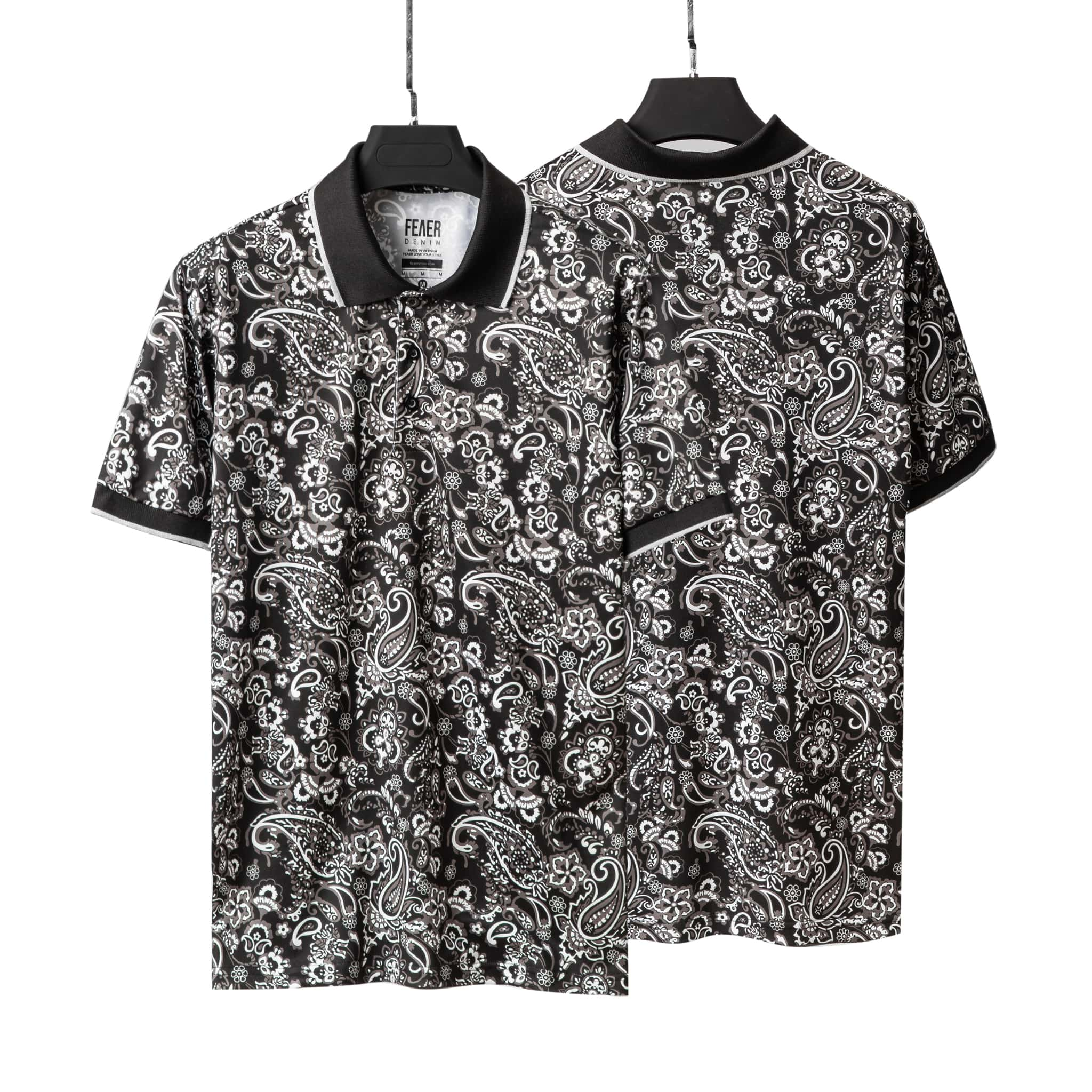 SP199 - Áo Polo Black Paisley