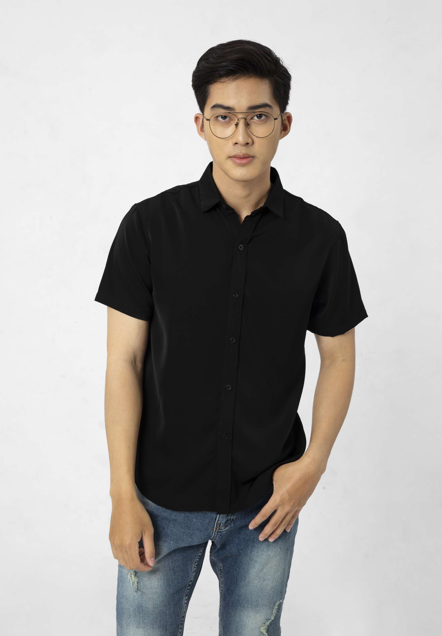 SP296 - Áo Sơ Mi Basic Short Sleeve Feaer