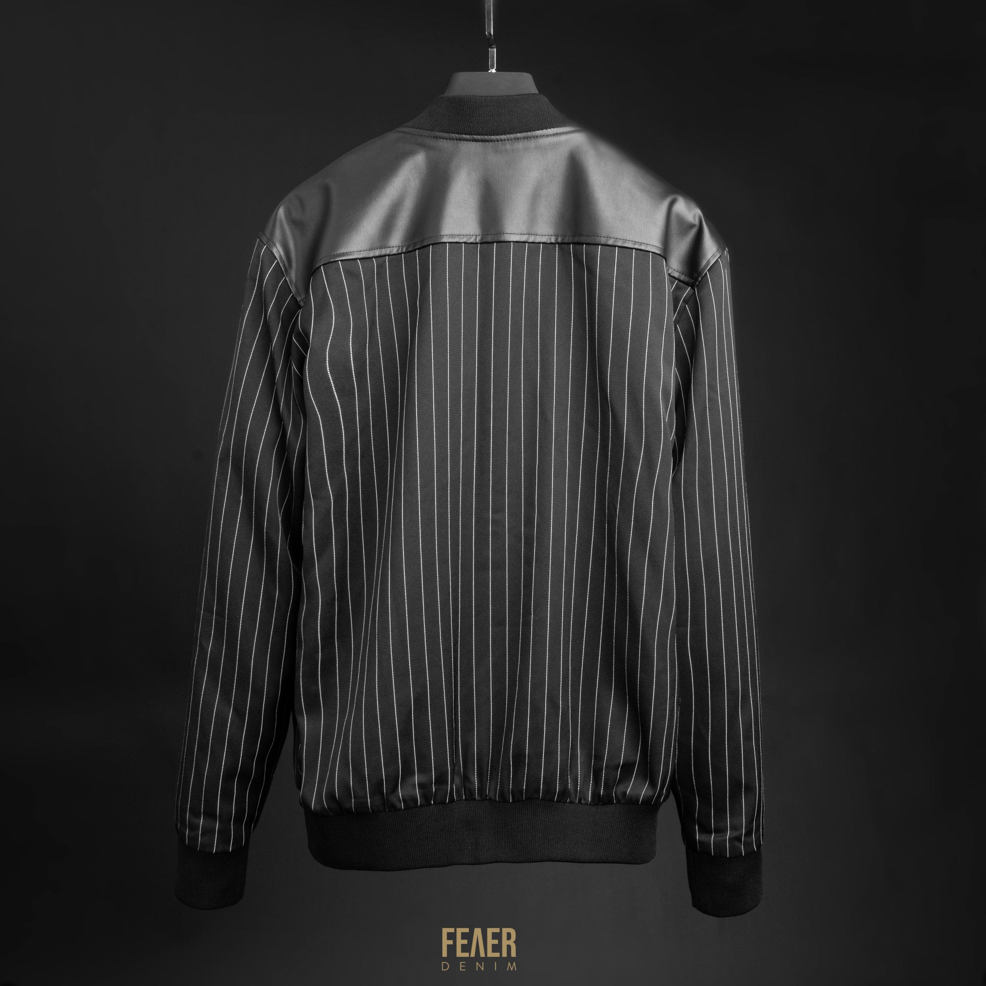 SP173 - Áo Khoác Leather Mixed Jacket
