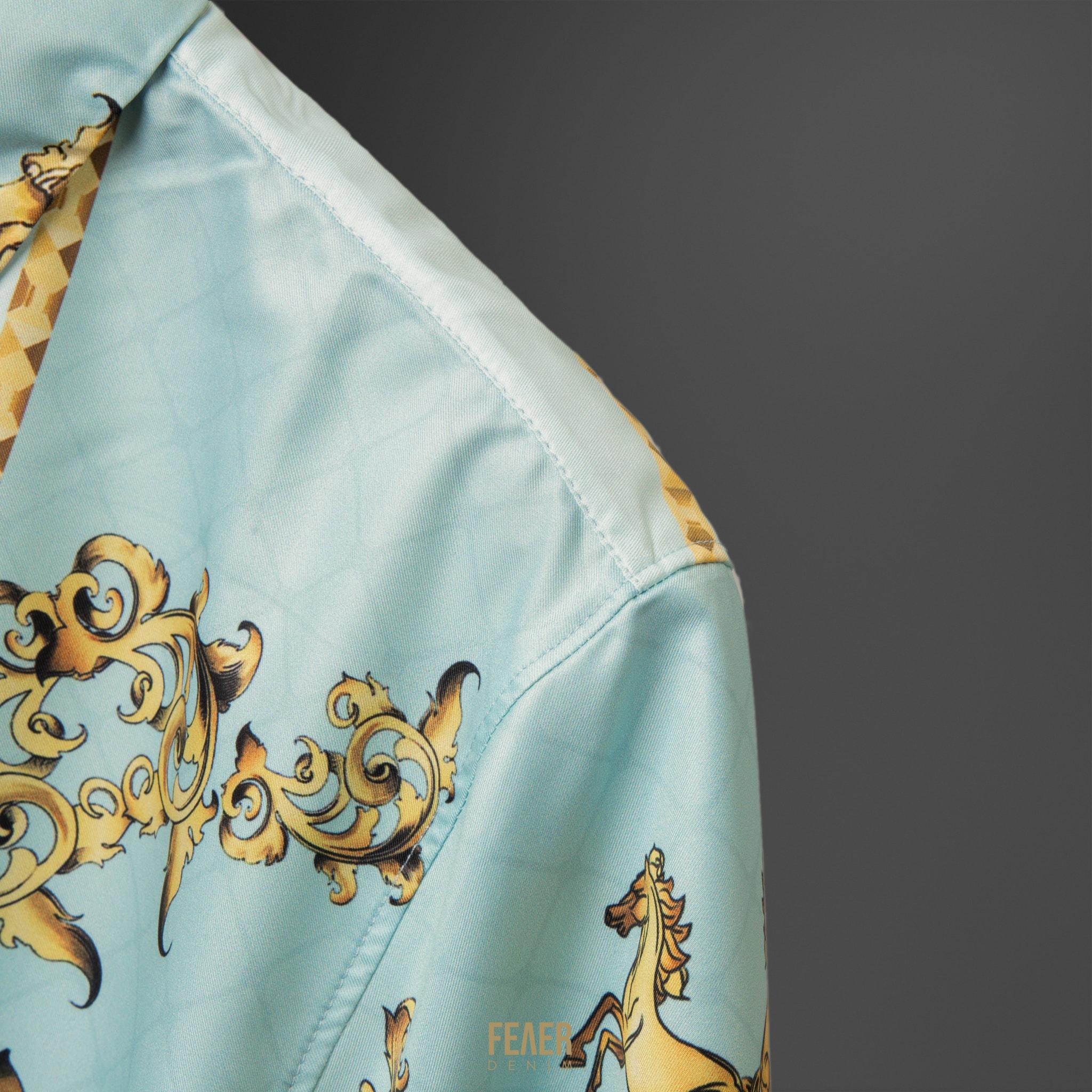 SP165 - Áo Sơ Mi Blue & Horse Gold