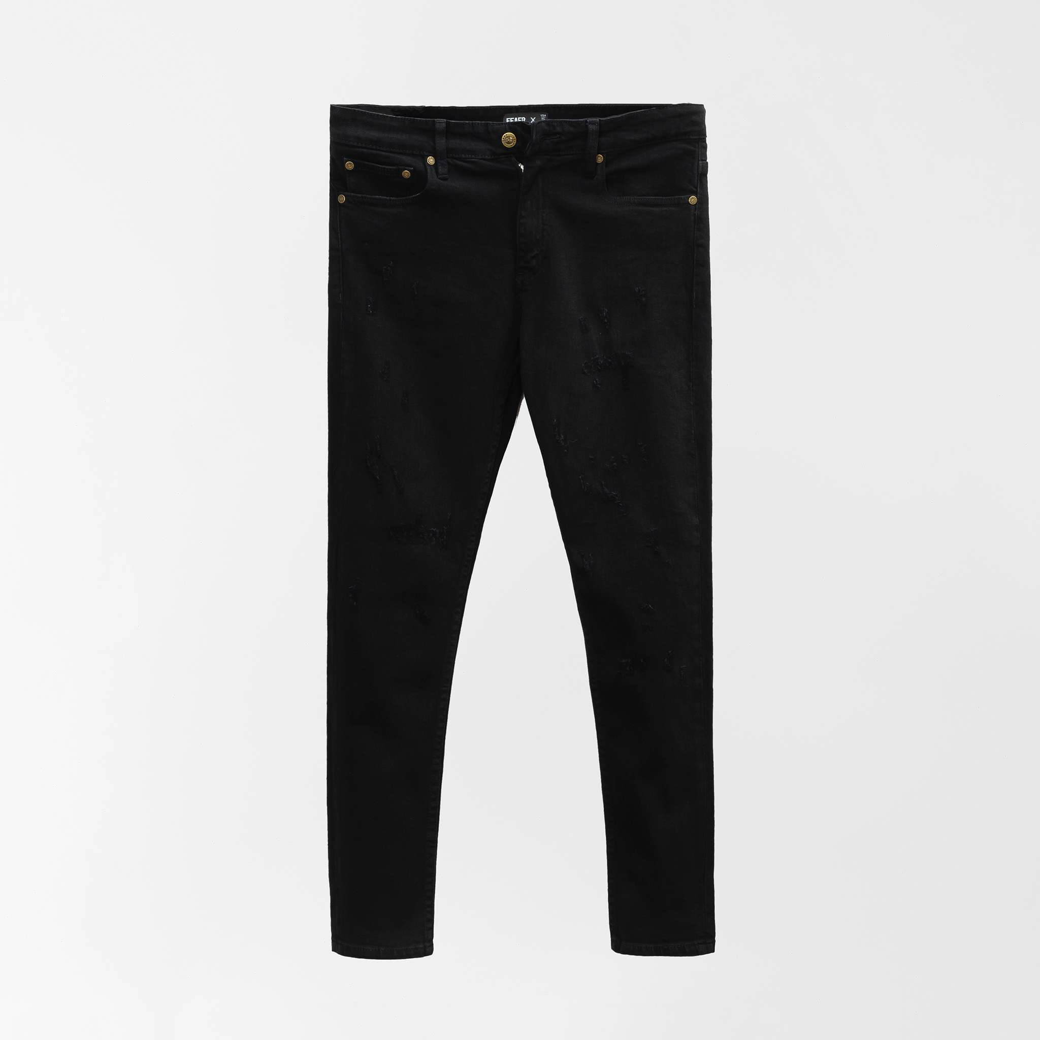 SP276 - Quần Jeans Skinny Ripped Black Wash V2