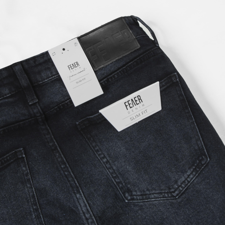 SP211 - Quần Jeans Biker Black Wash