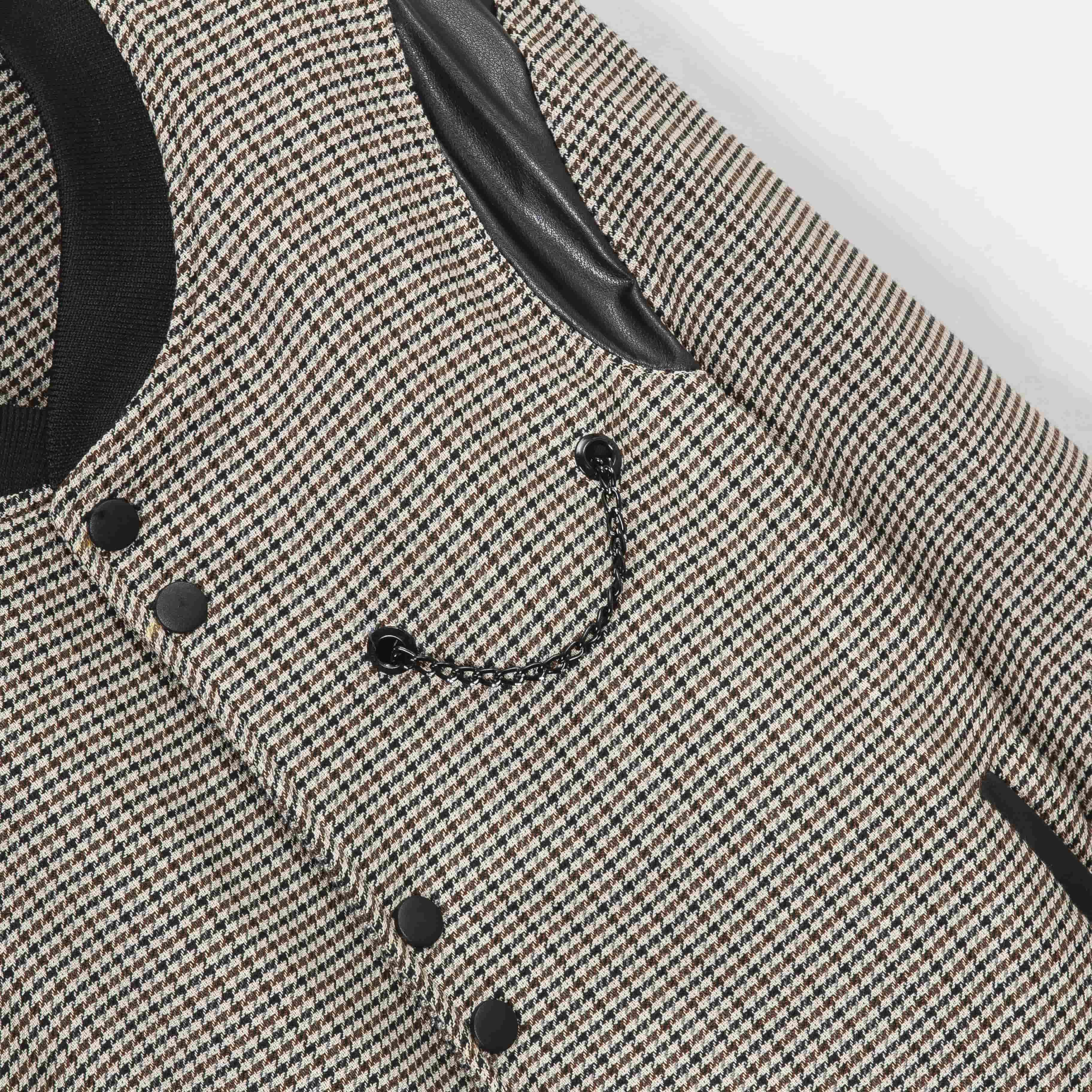 SP214 - Áo Khoác Cargo Mix Leather