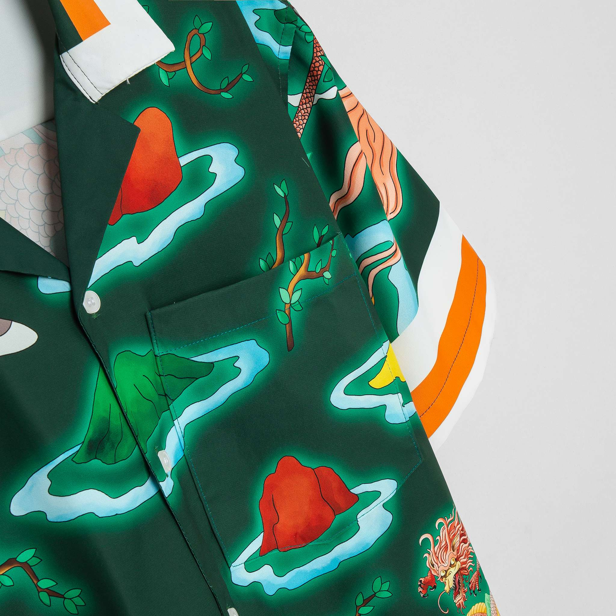 SP203 - Áo Sơ Mi Green Silk