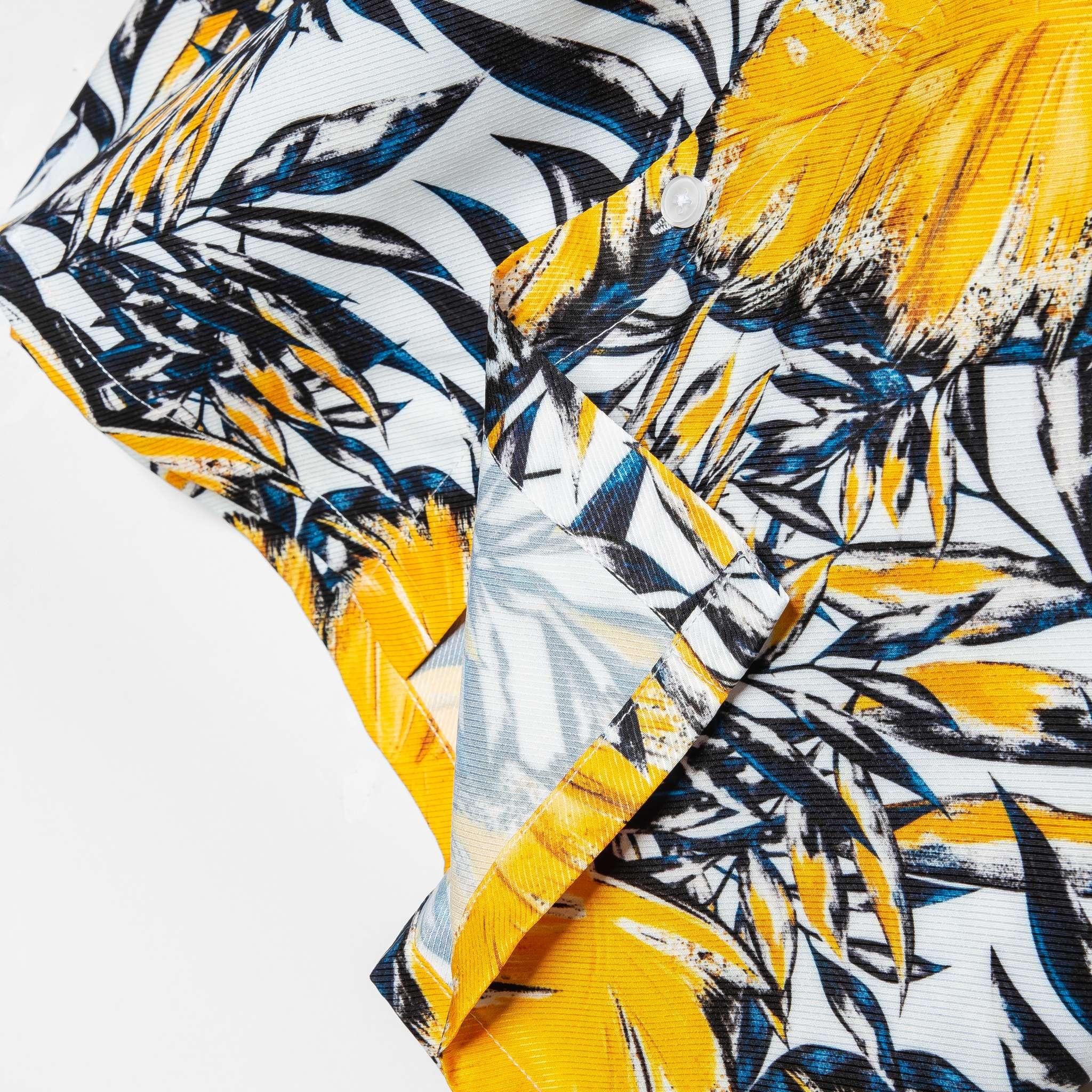 SP236 - Áo Sơ Mi Yellow Leaf