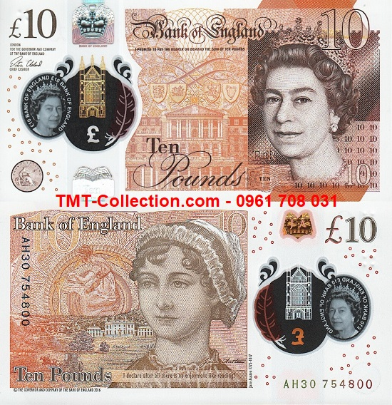 British - Anh 10 pounds 2017 UNC polymer