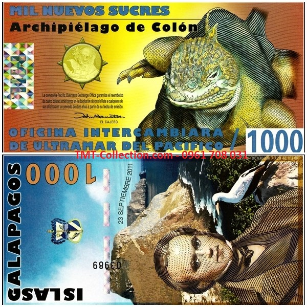 Galapagos Islands 1000 Sucres 2011 UNC Polymer