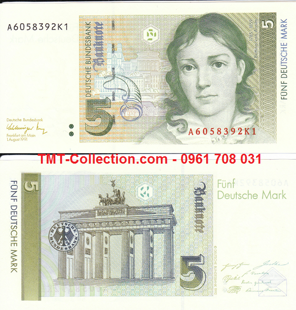 Germany - Đức 5 Mark 1991 UNC (tờ)