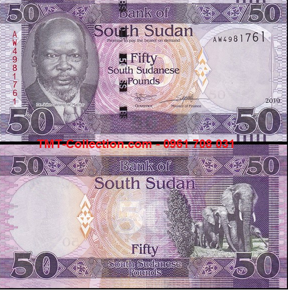 South Sudan - Nam Sudan 50 Pound 2019 UNC