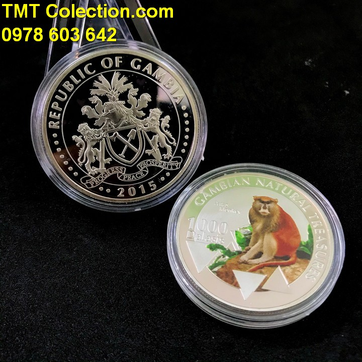 Xu hình con Khỉ Gambia 1000 Dalasis 2015 - TMT Collection