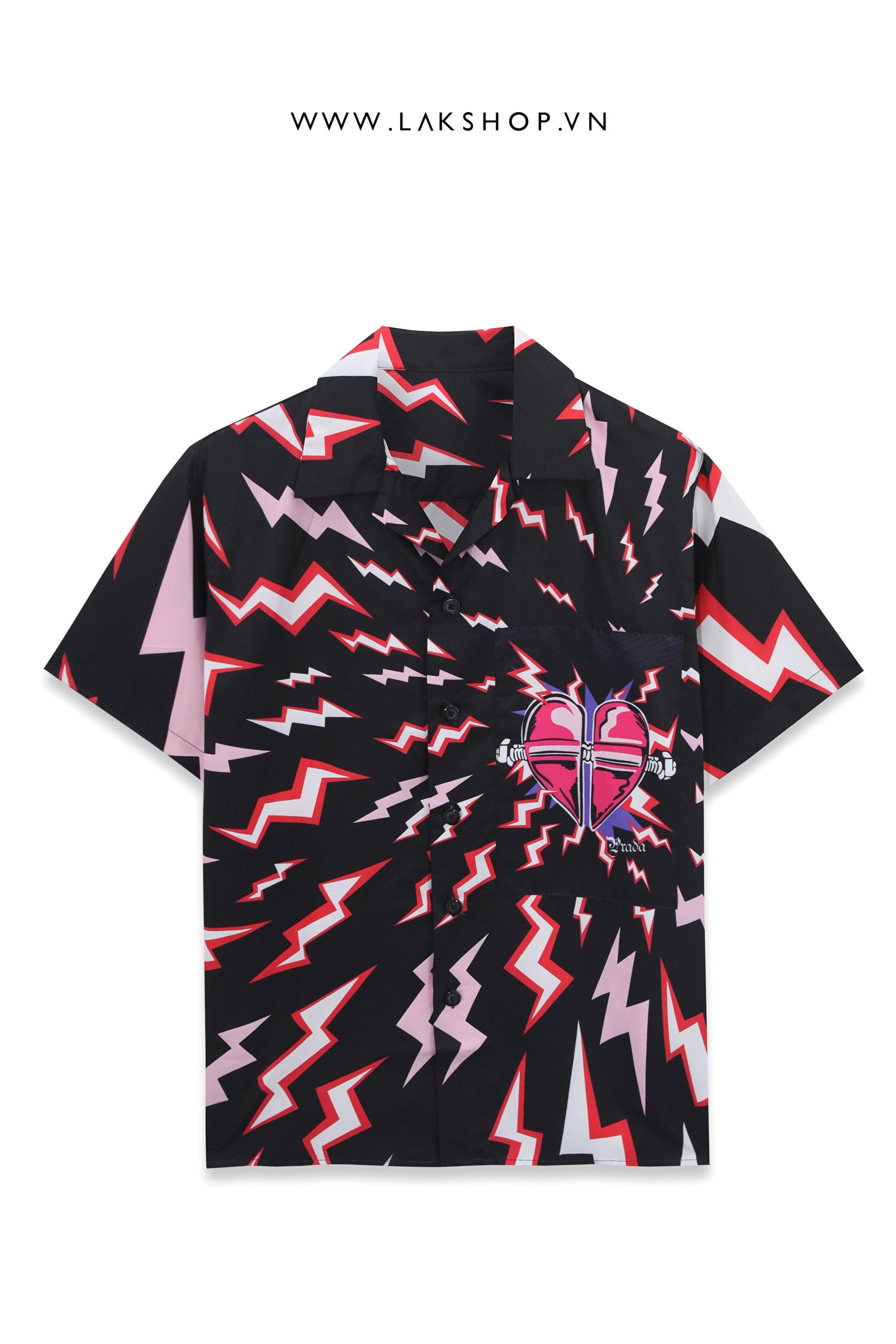 Prada Lightning Bolt Oversized Shirt cv3