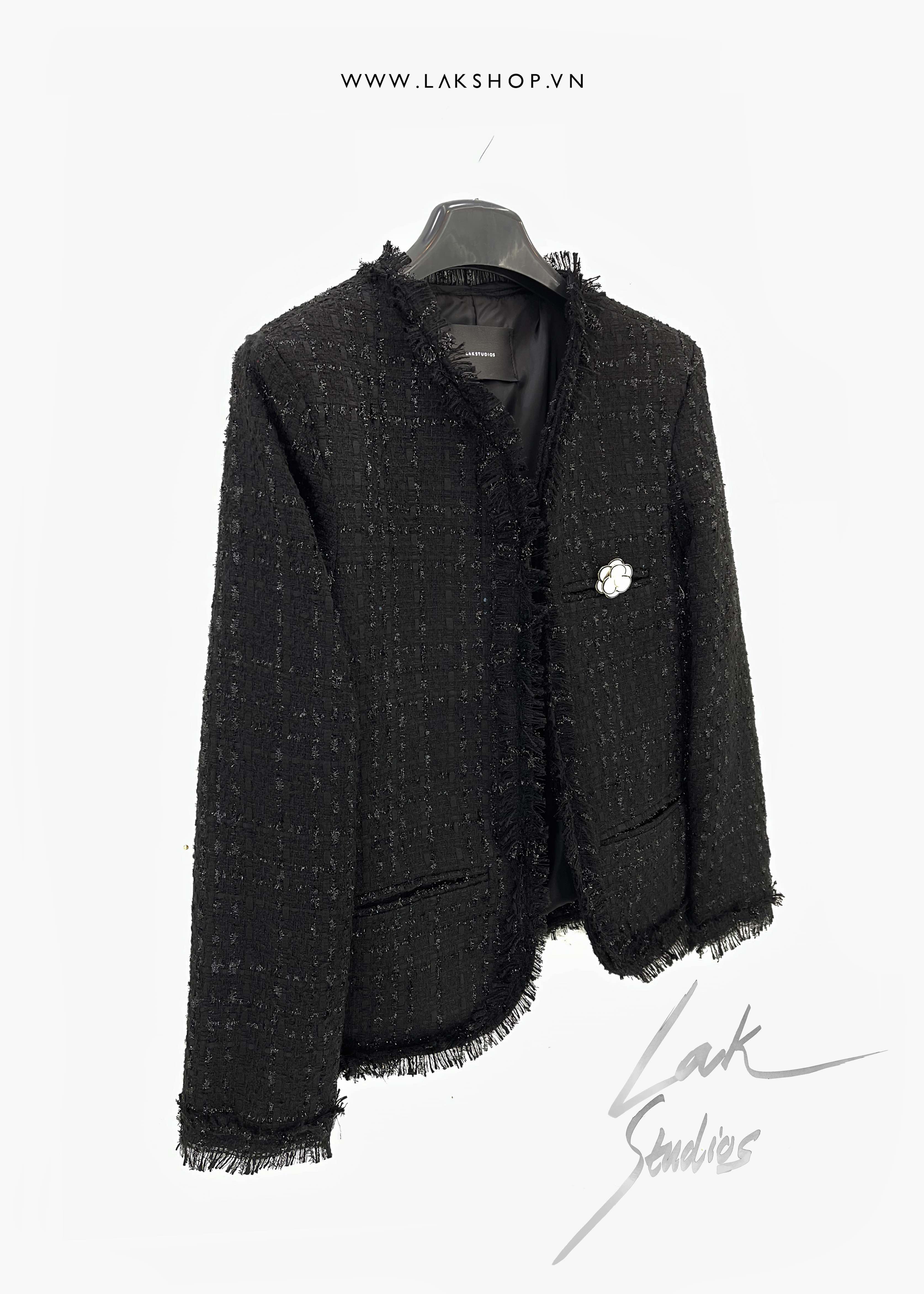 Peaceminusone Black HighnNeck Logo Oversized Sweatshirt