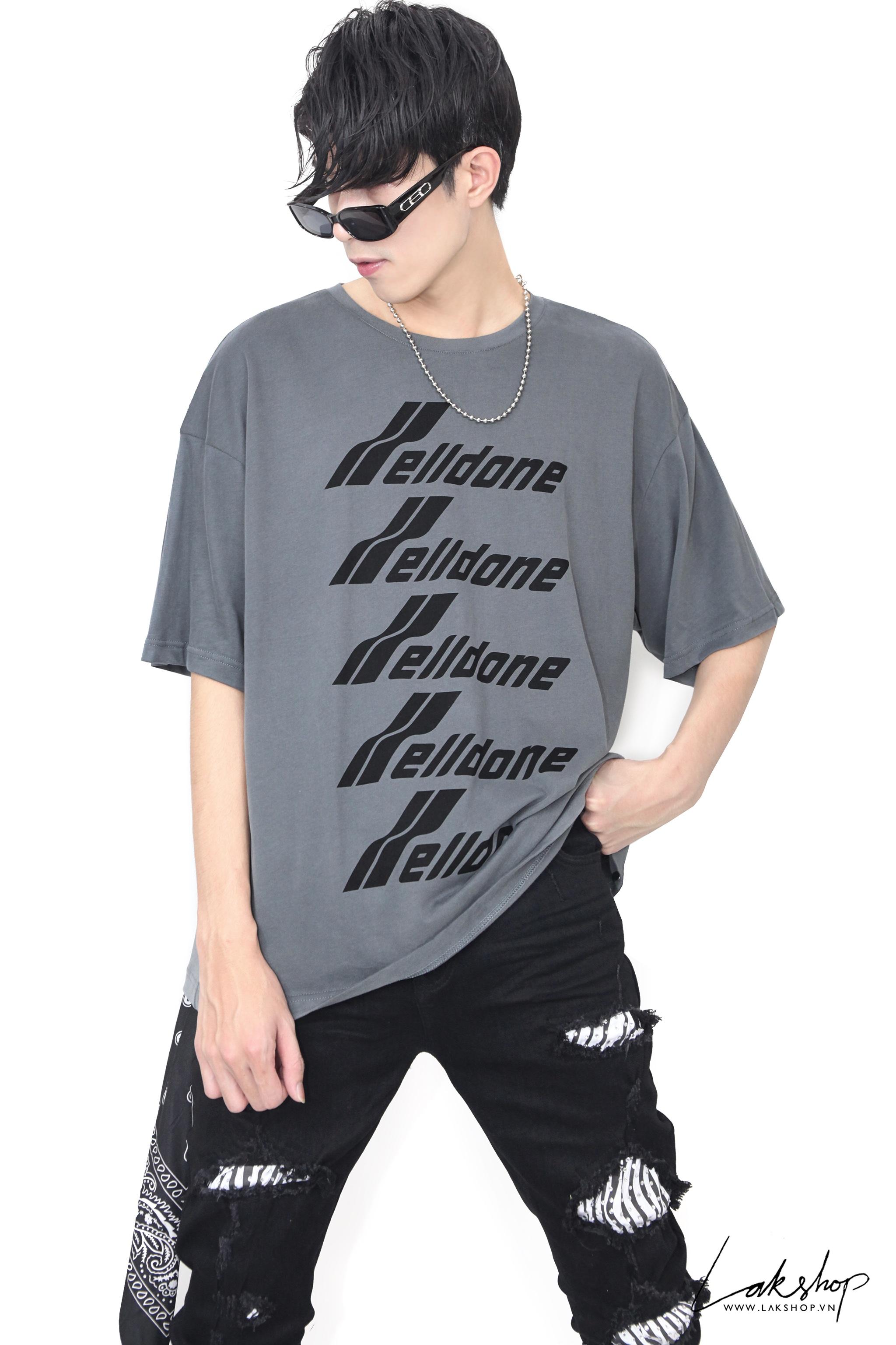 We11done Oversize Grey Oversize T-shirt  1:1 cv3