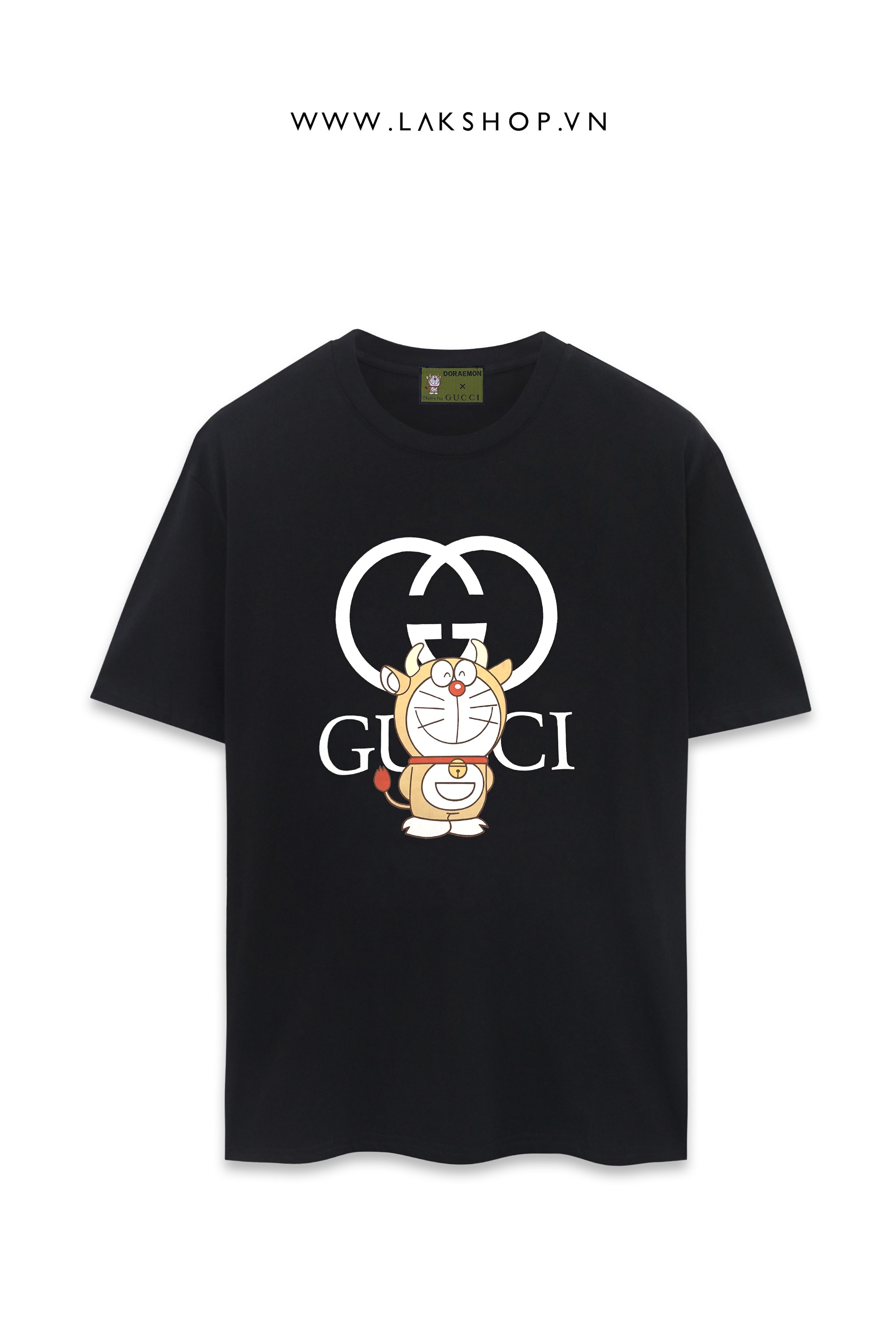Gucci x Disney Doreamon Lock Logo Black T-shirt