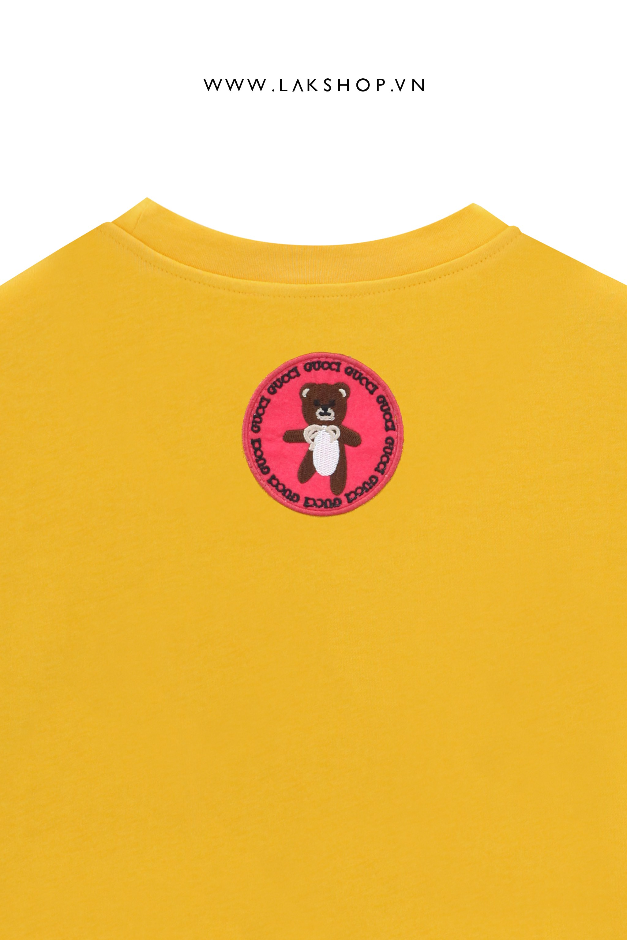 Gucci x Kai Teddy GG Lock Logo Yellow Oversized T-shirt cv1