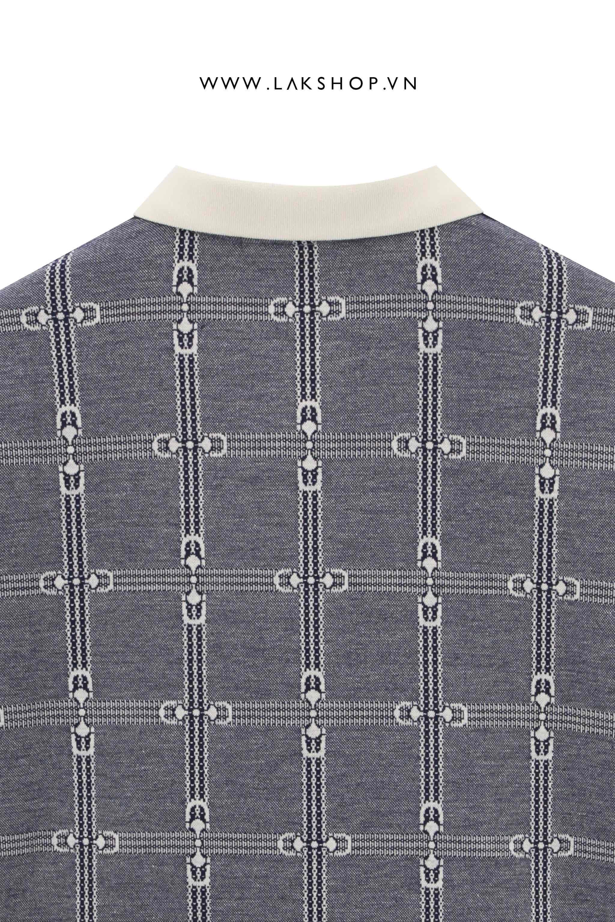 Gucci Cat Patch Piqué Navy Polo Shirt  cv1