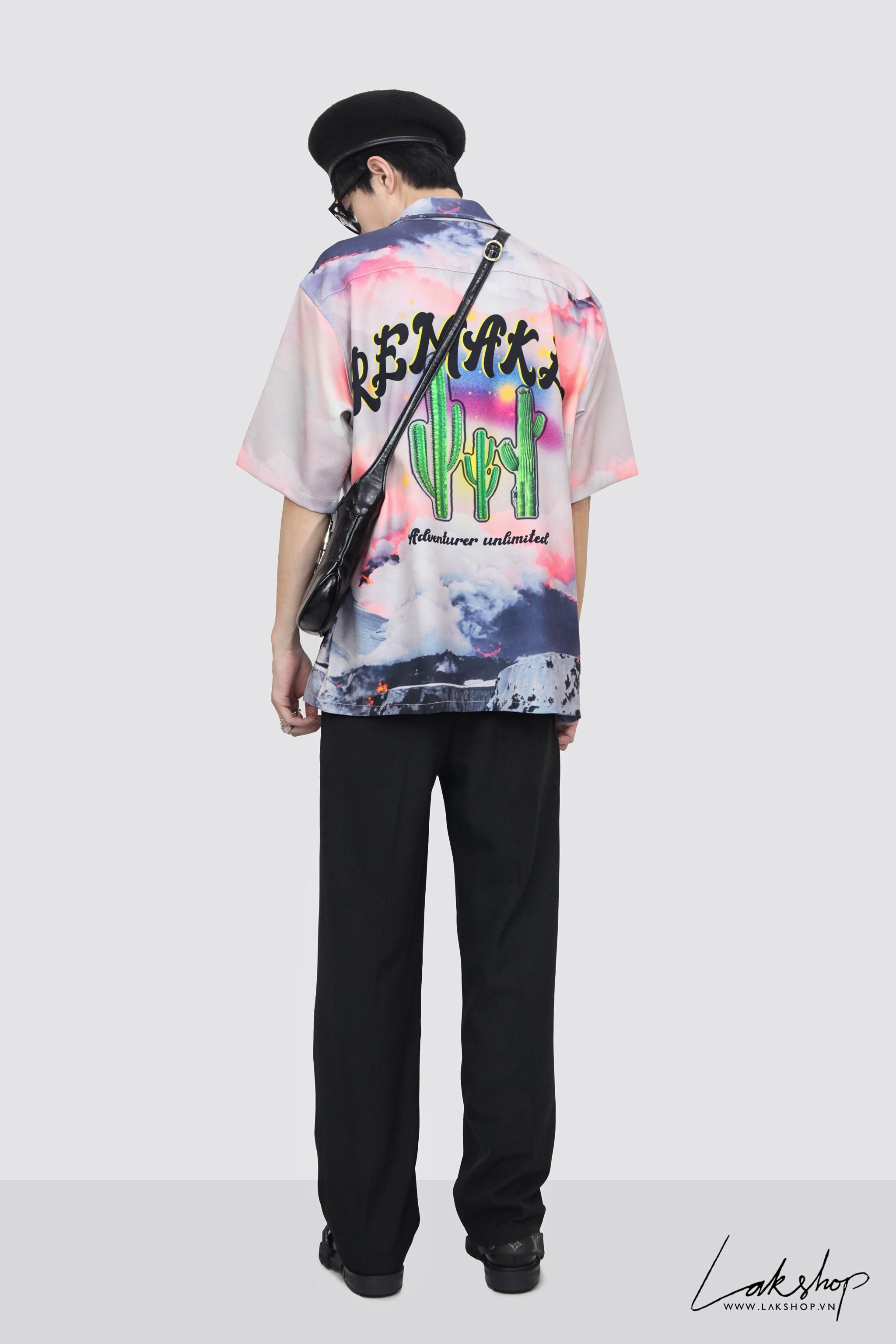 Pink Cloud Remakes Short Sleeve Shirt cv2