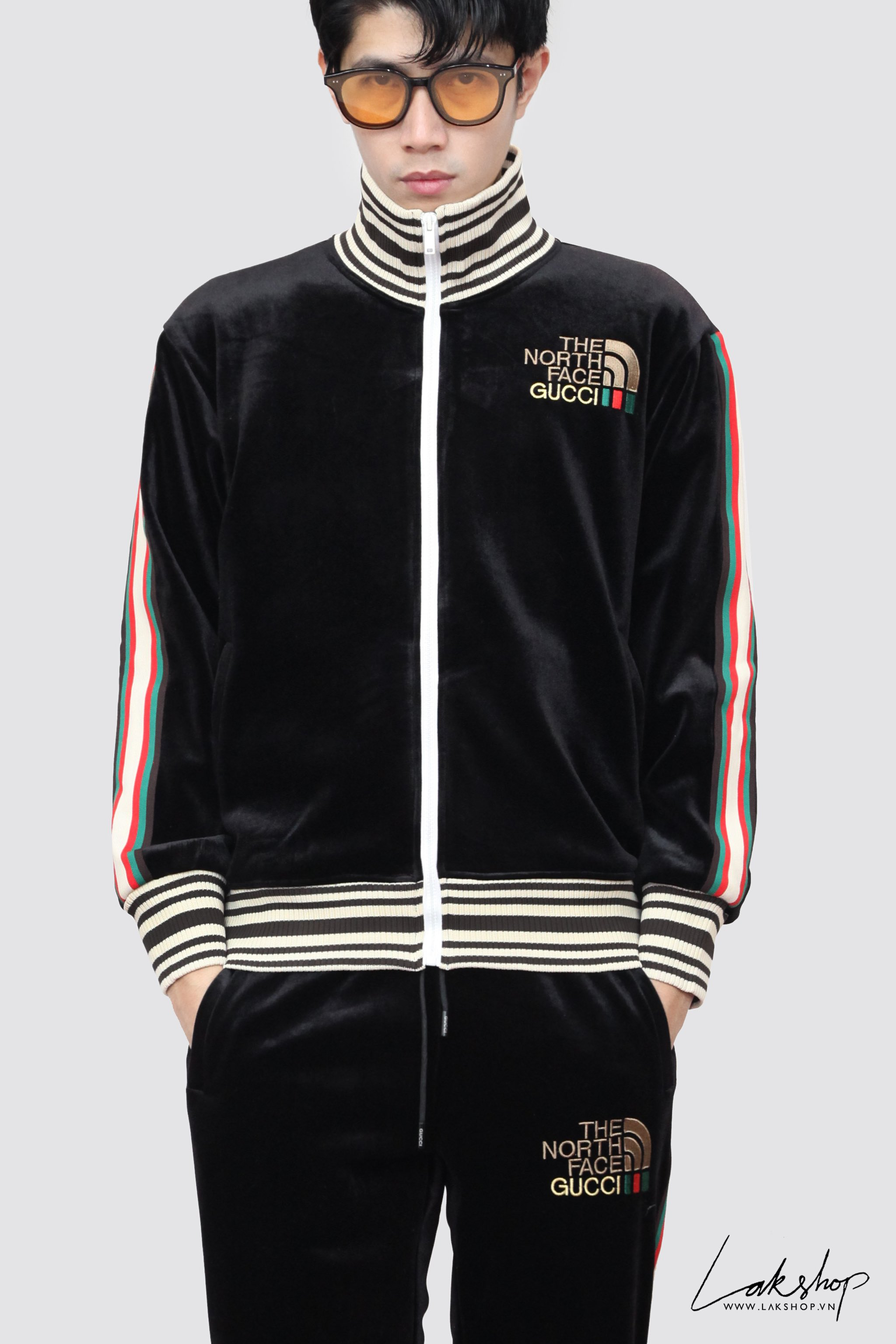 Louis Vuitton Hawaiian Tapestry Jacquard Blue Polo Shirt cv1