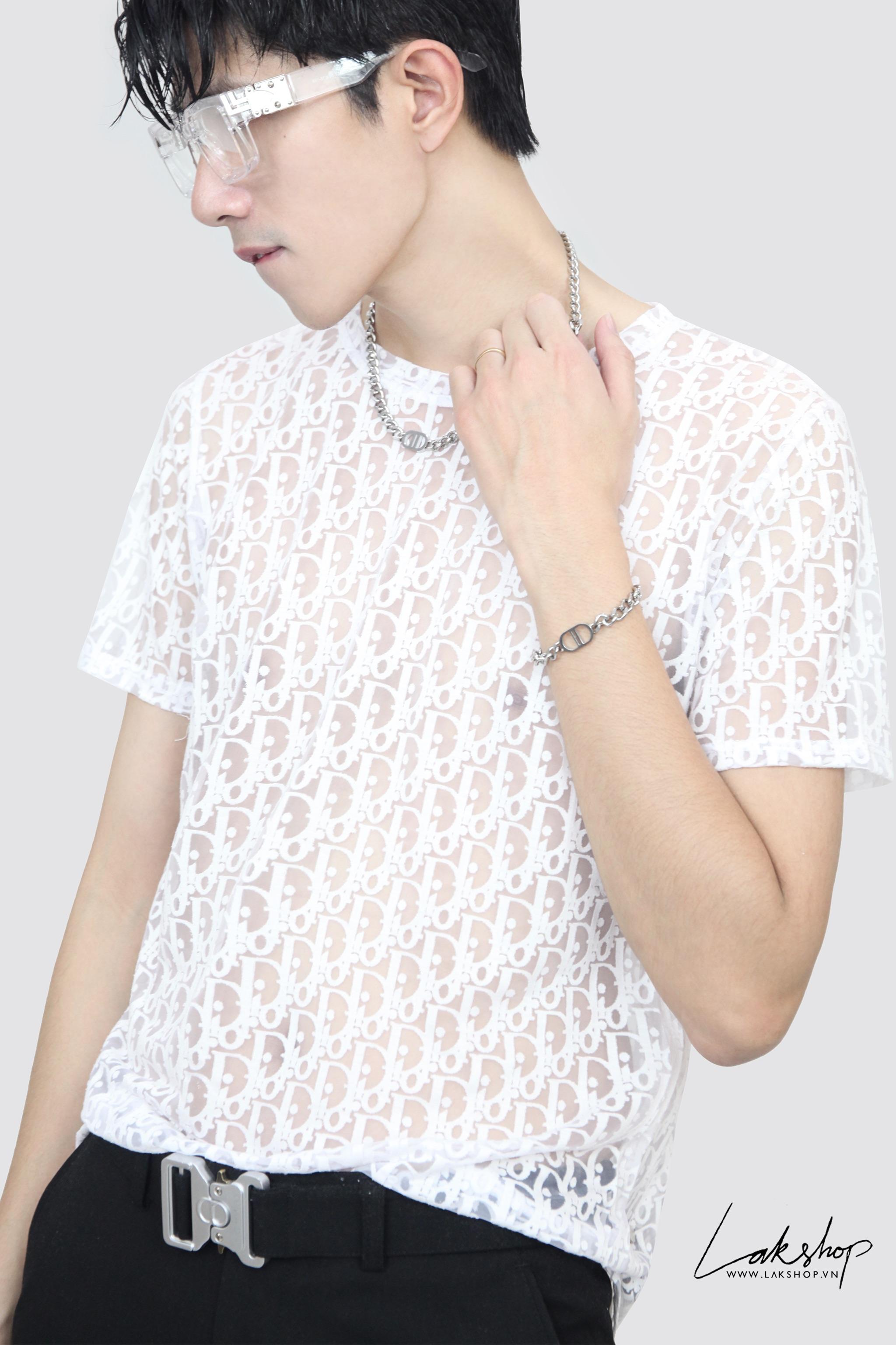 Dior Oblique Motif With White T-shirt